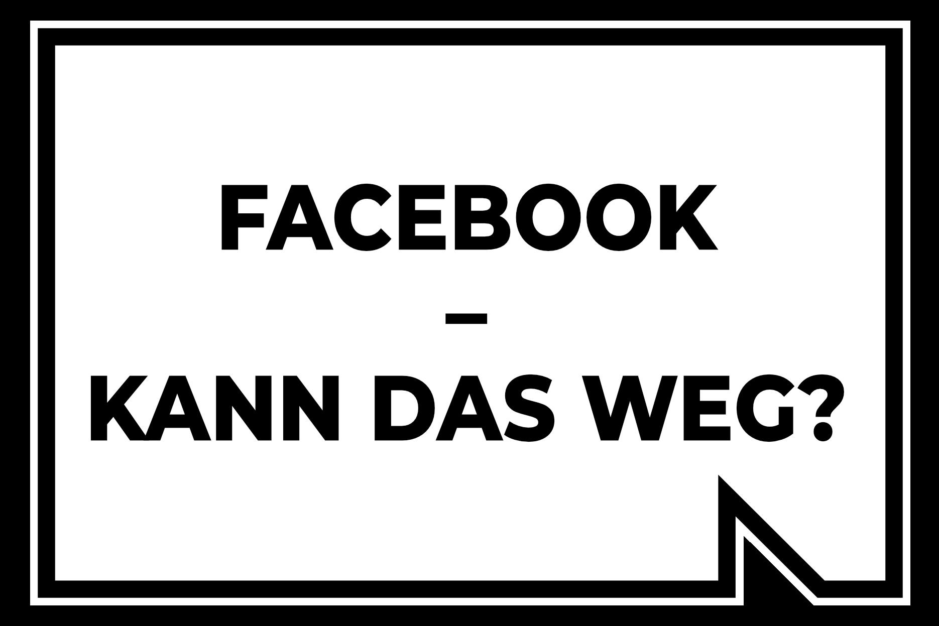 Facebook Freunde Weg